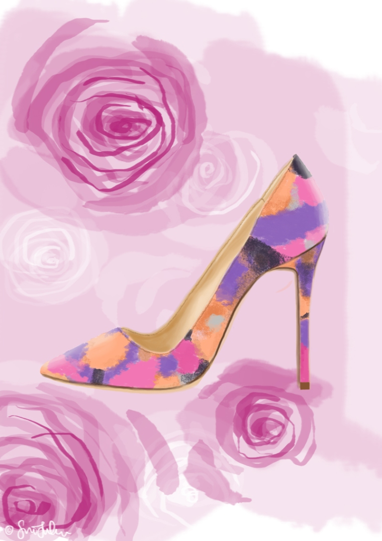 Colour Shoe Roses