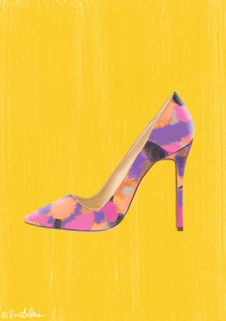 Yellow Colour Shoe